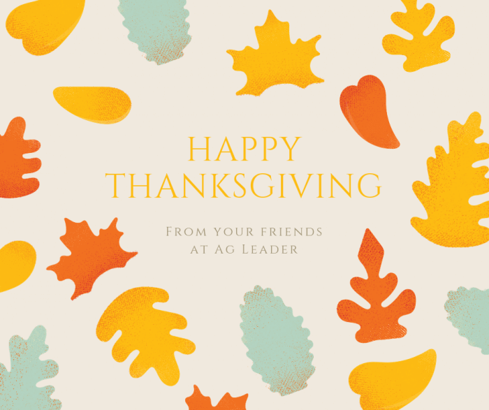 Happy Thanksgiving from Ag Leader
