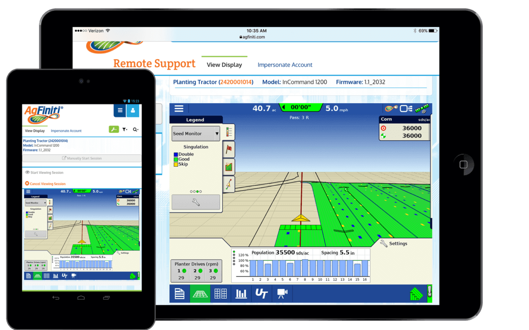 AgFiniti Remote Support Saves Time in the Field