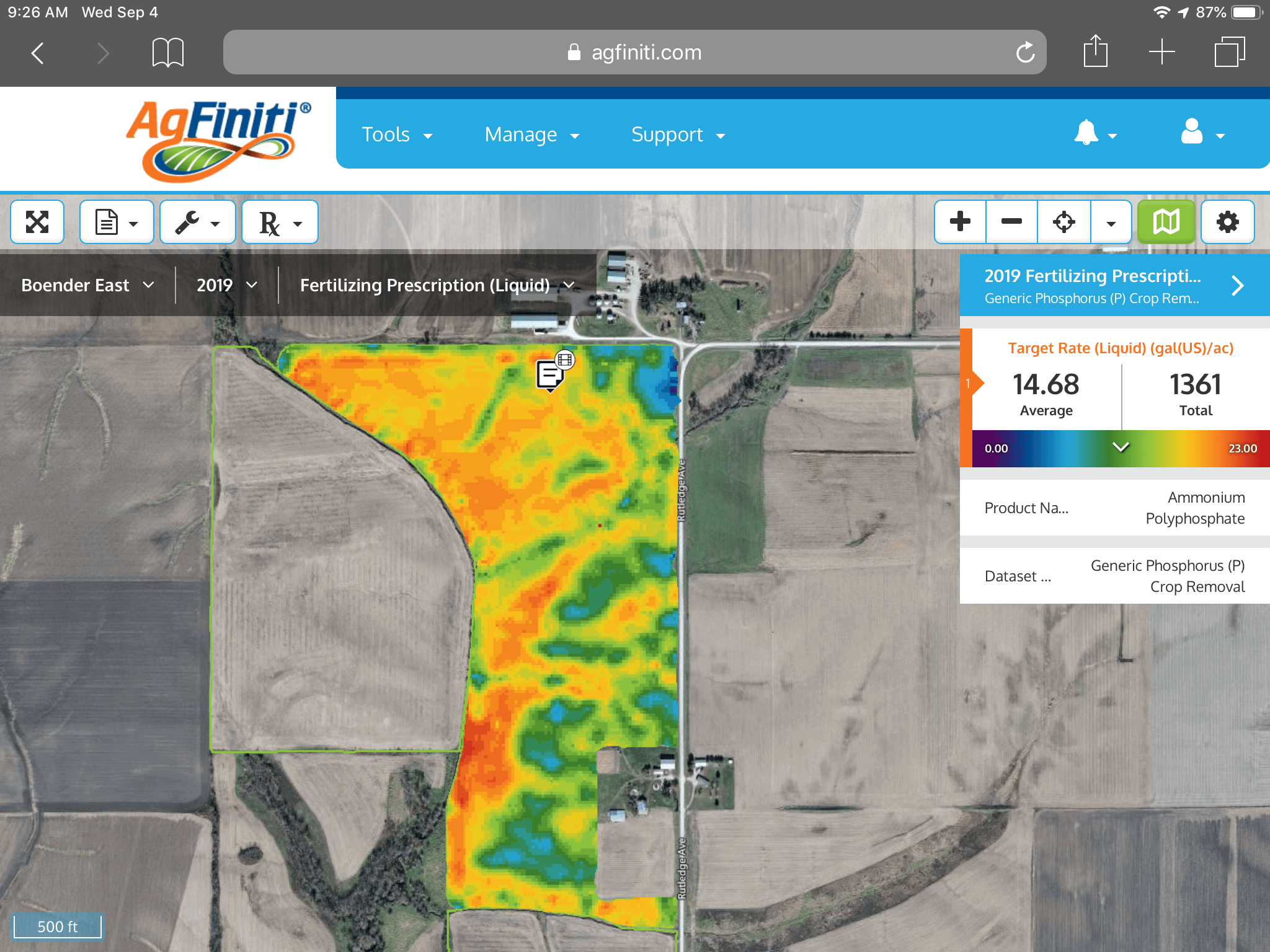 new fertilizing prescription map